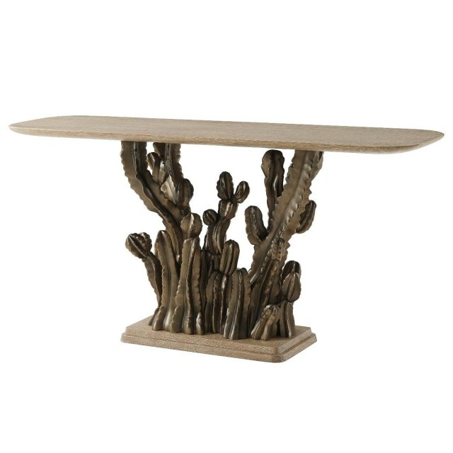 Theodore Alexander Console Table Cactus in Sandalwood