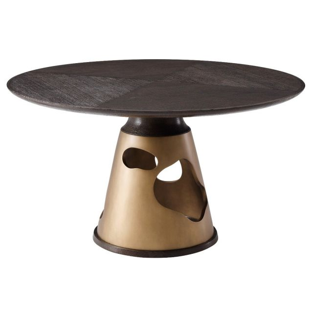 Theodore Alexander Small Round Dining Table Flint - Blackwood