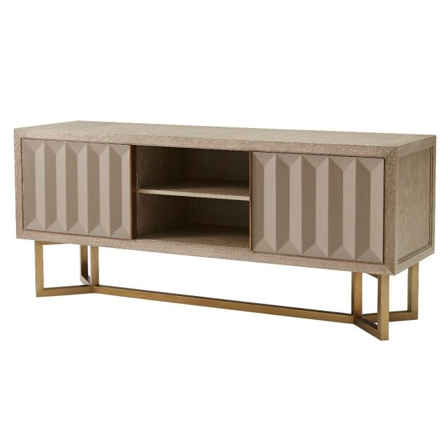 Theodore Alexander Sideboard Cabinet Ritz with Shelves in Oak