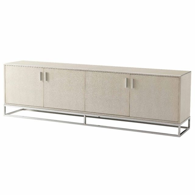TA Studio Large Media Console Fisher in Overcast