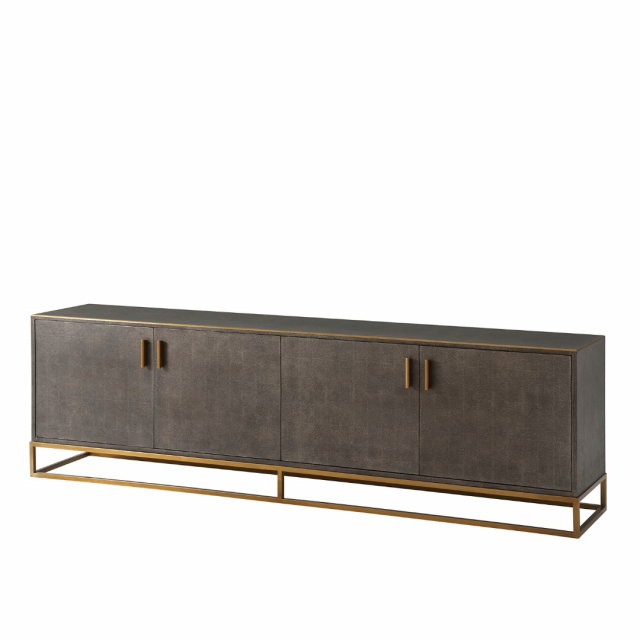TA Studio Large Media Console Fisher in Tempest