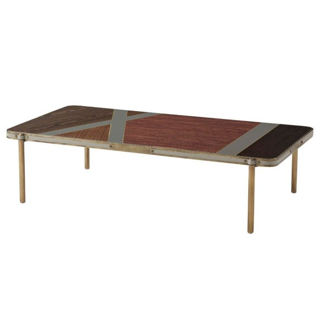 Theodore Alexander Rectangle Coffee Table Iconic in Bronze