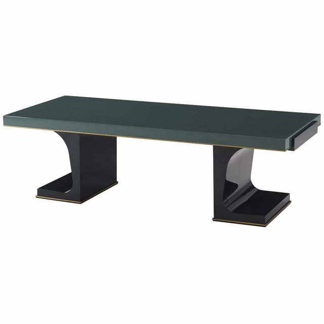 Theodore Alexander Fulham Green Lacquer Coffee Table