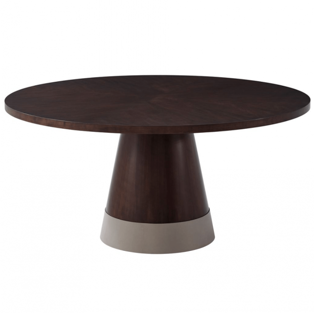 TA Studio Large Round Dining Table Huett Cuthbert in Almond
