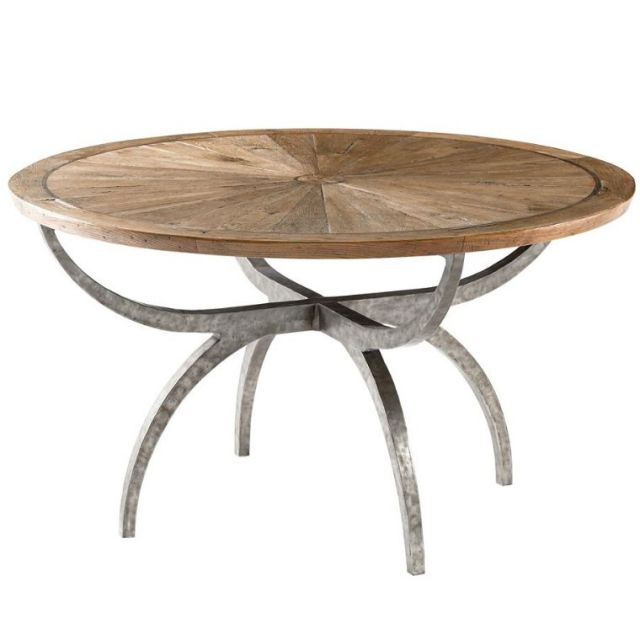 Theodore Alexander Round Dining Table Lagan - Echo Oak