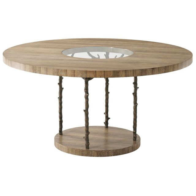 Theodore Alexander Round Dining Table Wynwood in Bronze