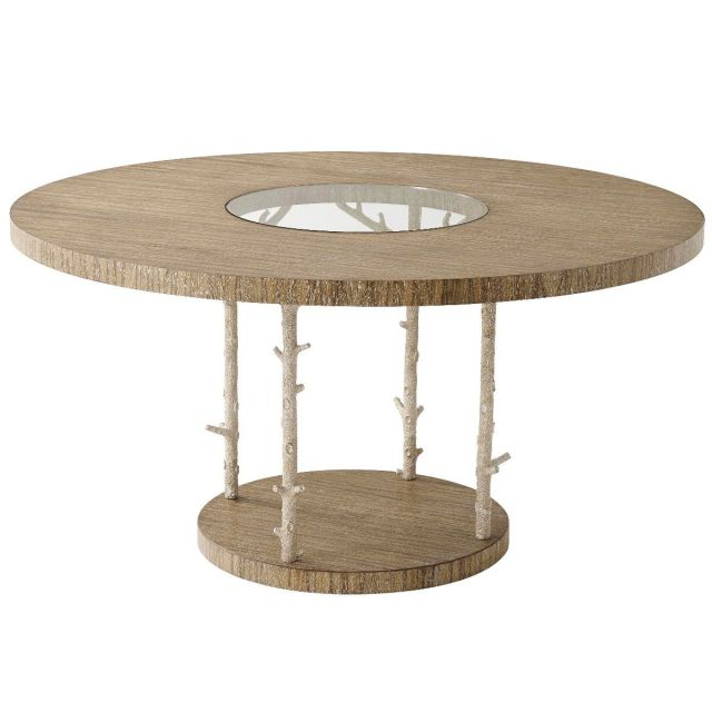 Theodore Alexander Round Dining Table Wynwood in Champagne