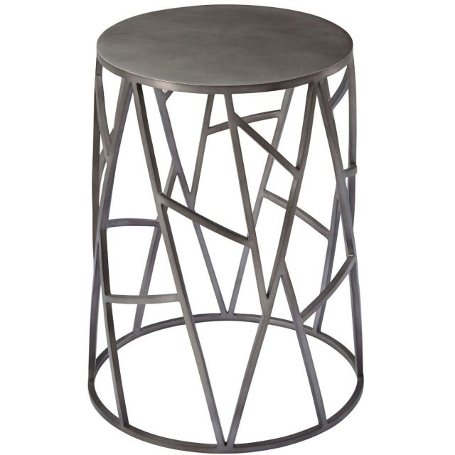 Theodore Alexander Round Side Table Fiore - Tungsten Finish