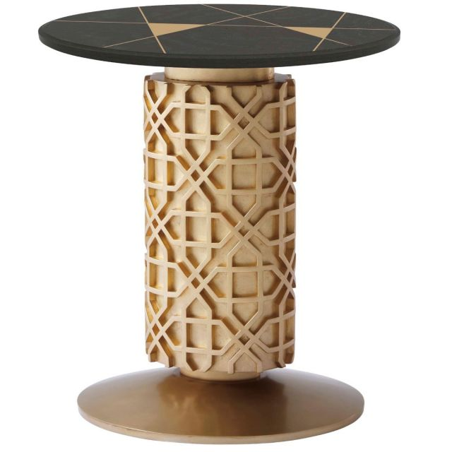 Theodore Alexander Side Table Colter II - Bronze Oak