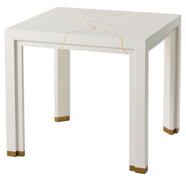 Theodore Alexander Marloe Side Table in White