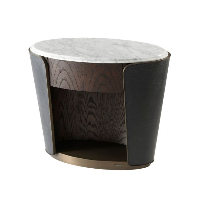 Theodore Alexander Amour Oval Bedside Table