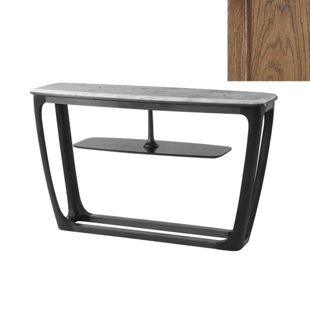 Theodore Alexander Converge Marble Console Table in Caribbean Cask