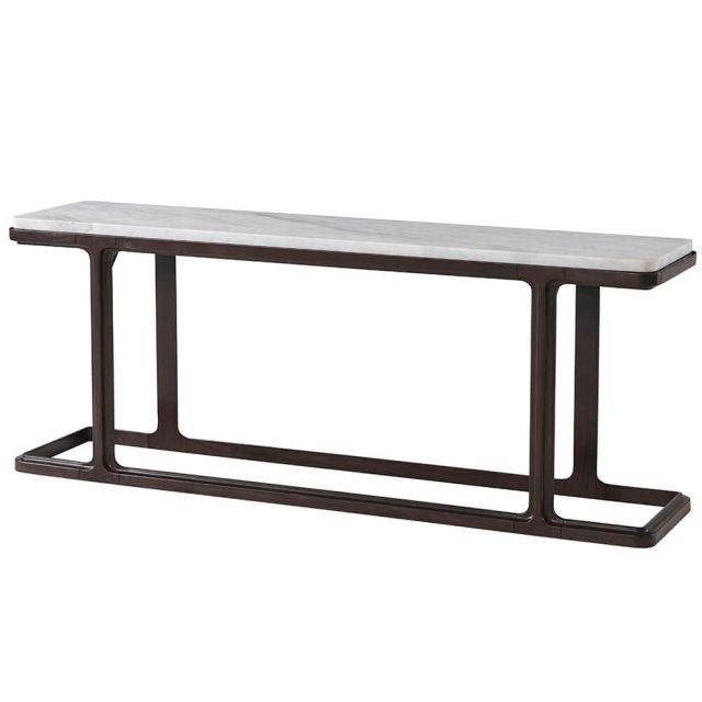 Theodore Alexander Inherit Console Table in Marble