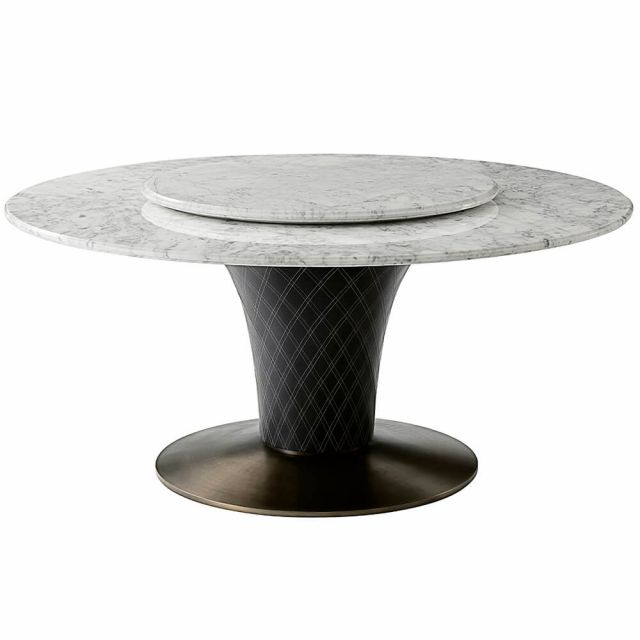 Theodore Alexander Pirouette Round Dining Table