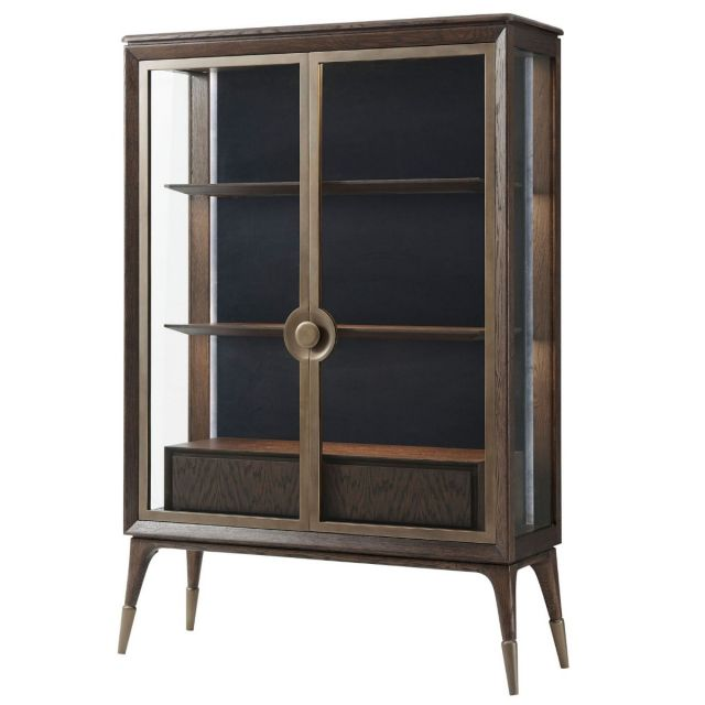 Theodore Alexander Admire Display Cabinet in Cigar Club