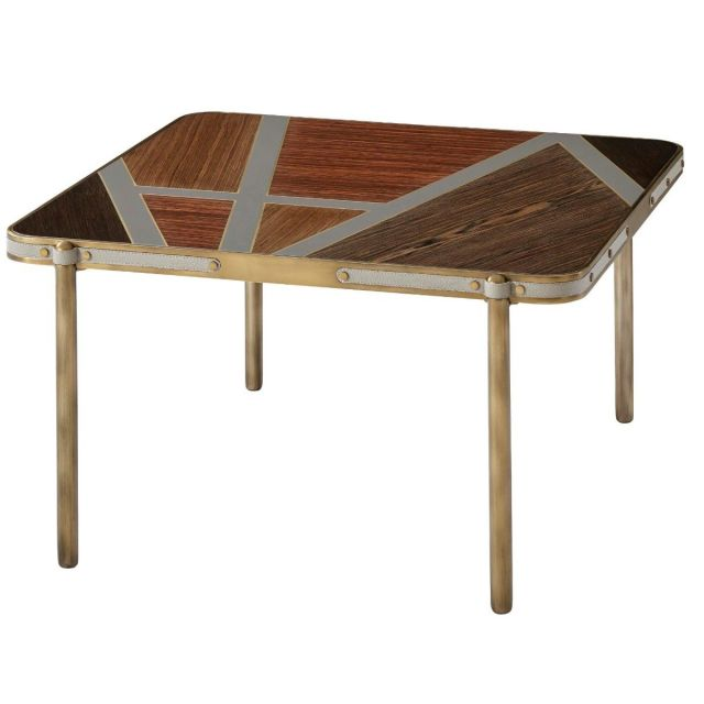 Theodore Alexander Square Coffee Table Iconic in Veneer