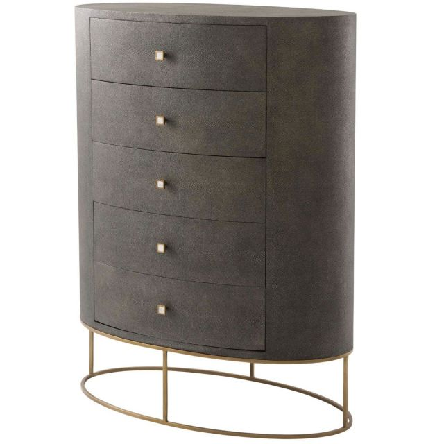 Theodore Alexander Tall Chest of Drawers Payton in Tempest