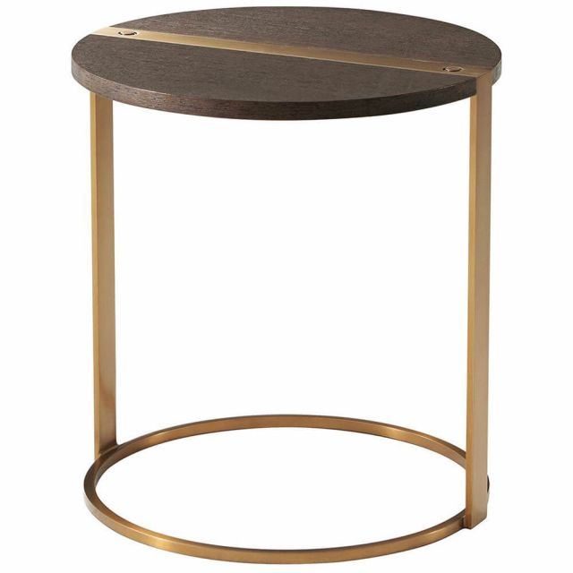 TA Studio Round Side Table Carson in Cardamon