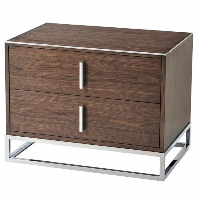 TA Studio Bedside Table Blain in Macadamia & Nickel