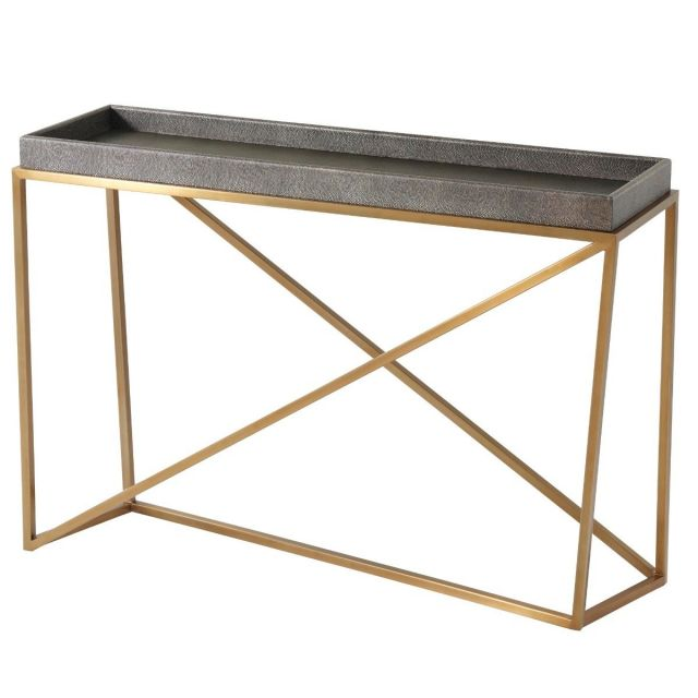 TA Studio Tray Console Table Crazy X in Tempest