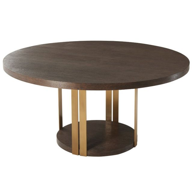TA Studio Round Dining Table Tambura Large in Cardamon