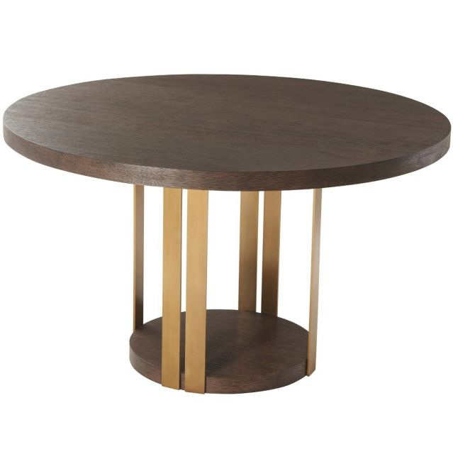 TA Studio Round Dining Table Tambura - Cardamon & Brass