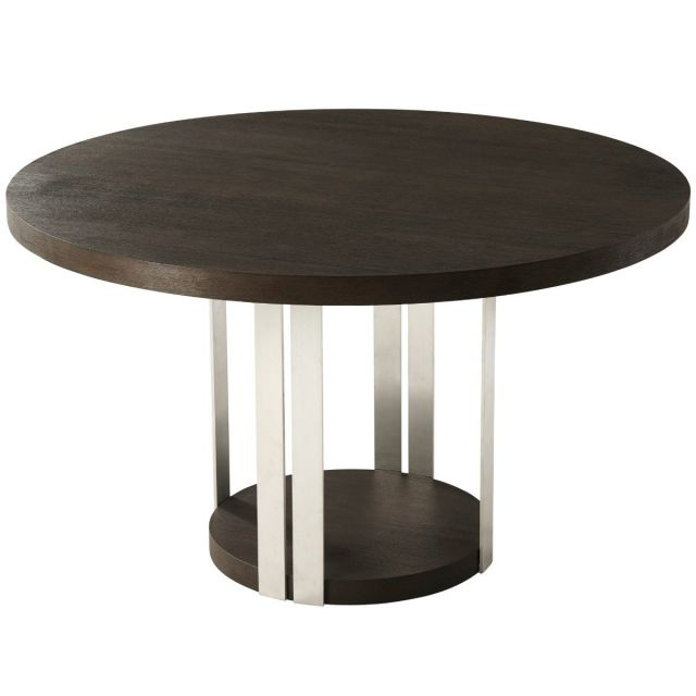 TA Studio Round Dining Table Tambura - Anise & Nickel
