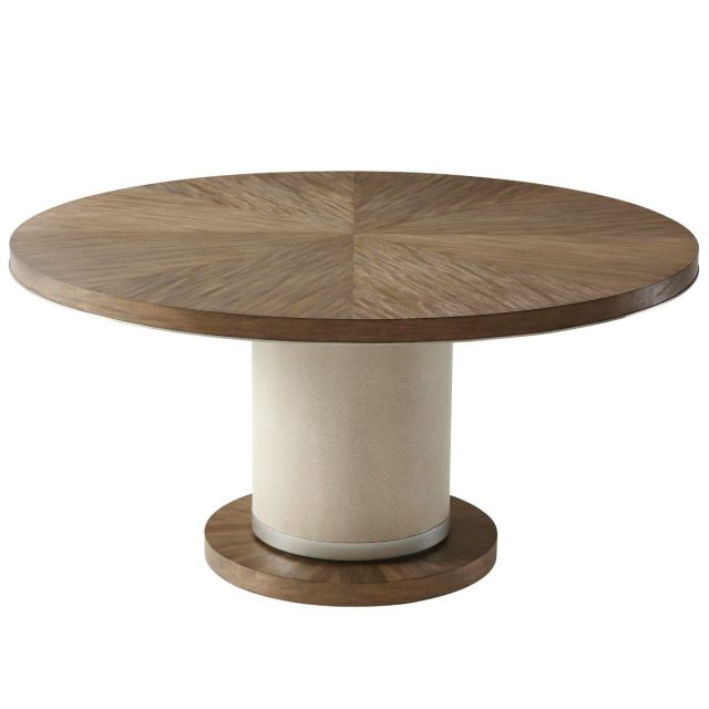 TA Studio Round Dining Table Sabon in Mangrove with Nickel Edge