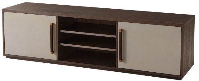 TA Studio Media Cabinet Williamson Small - Cardamon, Brass Accents