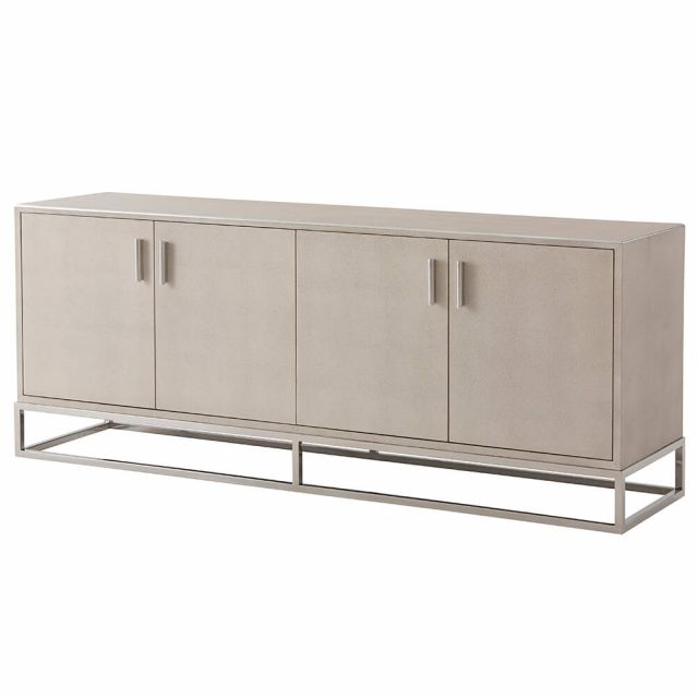 TA Studio Small Media Console Fisher in Overcast