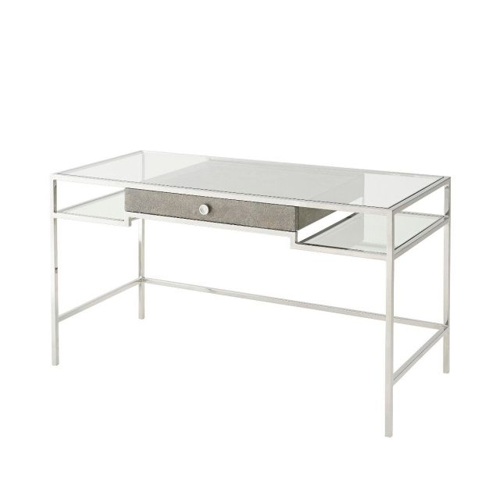 Theodore Alexander Tintagel Desk - Grey Blue Eggshell