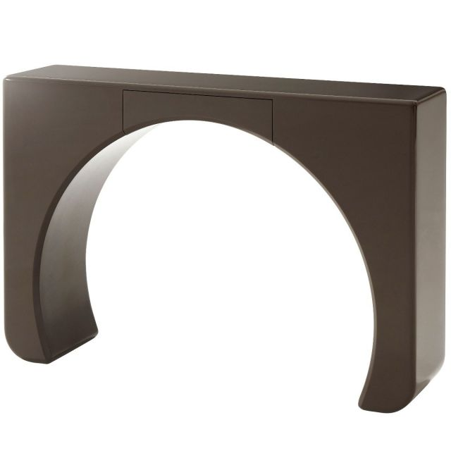 Theodore Alexander Console Table Portal Parsons - Smoke