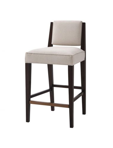 Anthony Cox Bar Stool Finn in Oyster | Theodore Alexander