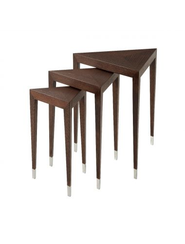 Vanucci Eclectics Nest of Tables Triangulate | Theodore Alexander