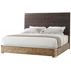 Theodore Alexander Bed Seb - Echo Oak