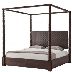 Theodore Alexander Bed Weston 4 Poster - Dark Echo Oak Finish