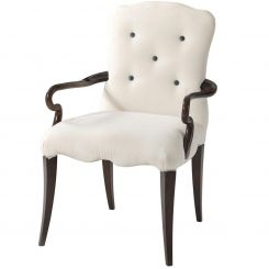 Theodore Alexander Dining Armchair Lily in Serpentine- COM