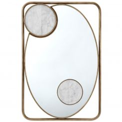 Theodore Alexander Rectangle Mirror Iconic - Brass Finish