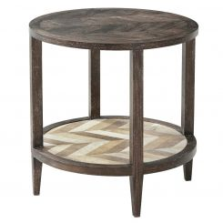 Theodore Alexander Round Acceent Side Table Marco