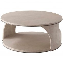 Theodore Alexander Round Coffee Table Adelmo
