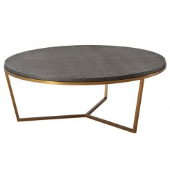 TA Studio Round Coffee Table Fisher in Shagreen - Tempest