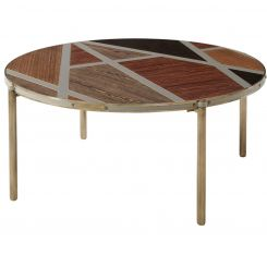 Theodore Alexander Round Coffee Table Iconic