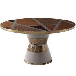 Theodore Alexander Large Round Dining Table Iconic