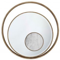 Theodore Alexander Round Mirror Iconic - Marble