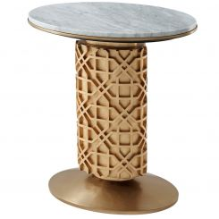 Theodore Alexander Side Table Colter - Marble