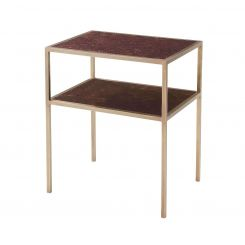 Theodore Alexander Side Table Golden Rectangle