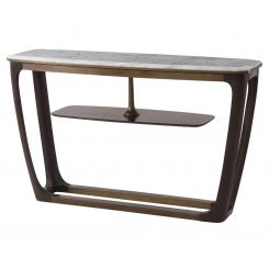 Theodore Alexander Converge Console Table Marble Top