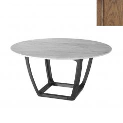 Theodore Alexander Converge Marble Dining Table - Caribbean Cask