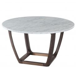 Theodore Alexander Converge Marble Dining Table - Cigar Club
