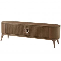 Theodore Alexander Arena Media Cabinet Oak Top